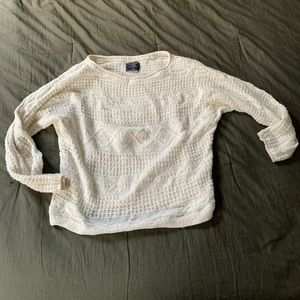 White knit sweater Abercrombie